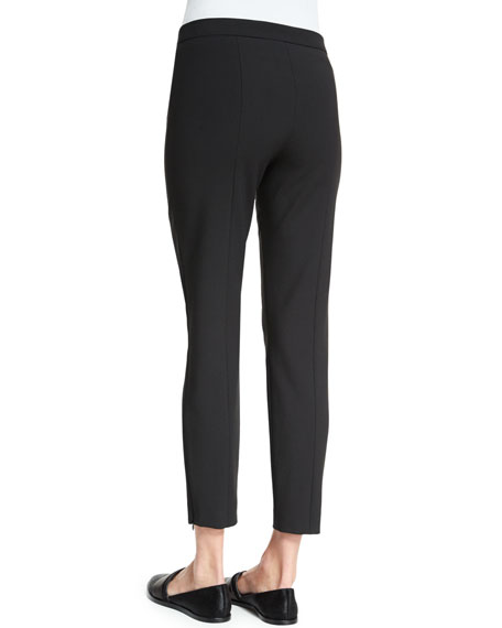Victoria Mid-Rise Cropped Pants, Black