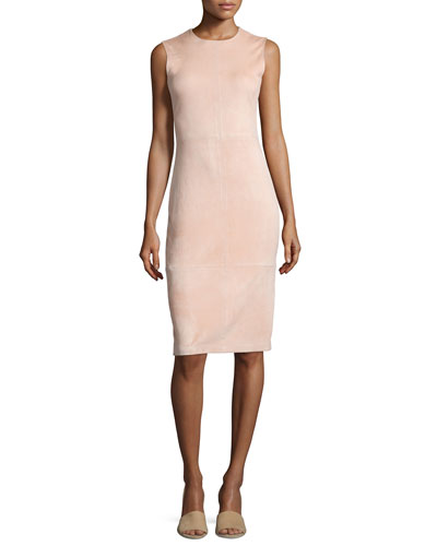 Eano L Stretch Suede Sheath Dress
