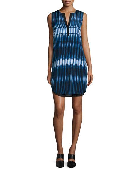 Vince Tie-Dye Print Double-Layer Dress
