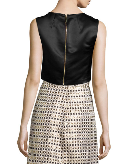 Erin Fetherston Beau Twisted Bow Crop Top 5e53002081a