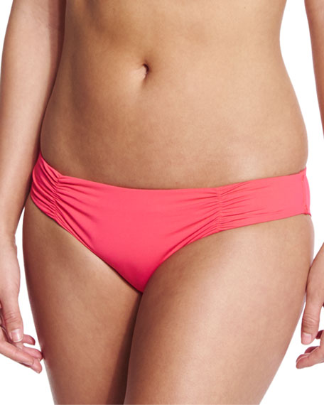 Chloe Full-Cut Swim Bottom, Geranium