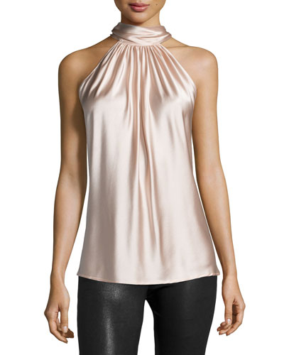 Paige Halter-Neck Top, Blush