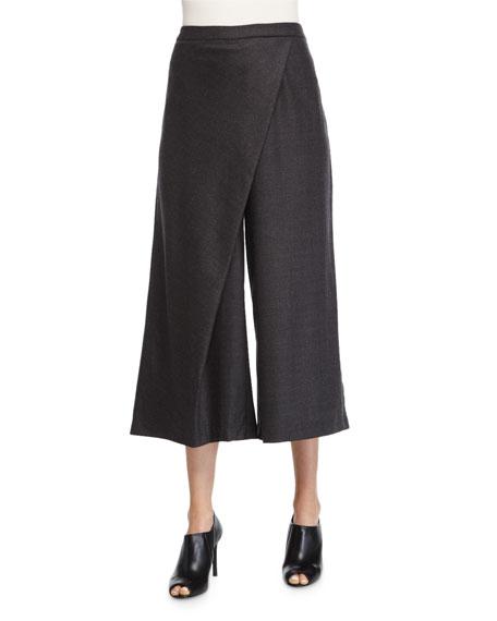 Eileen FisherWide-Leg Karate Pants, Charcoal
