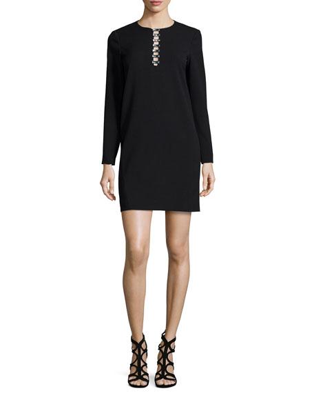MICHAEL Michael Kors Jewel-Front Shift Dress