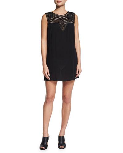 Paradise Crochet-Top Coverup Dress