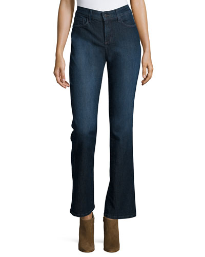 Billie Mini Boot-Cut Jeans, Burbank Wash
