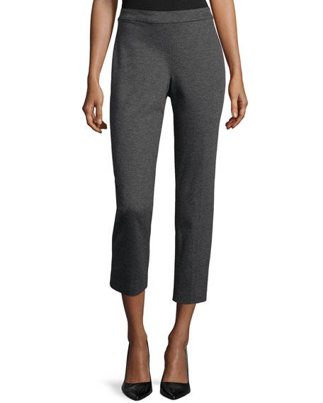 Natori Ponte Mid-Rise Cropped Pants, Charcoal