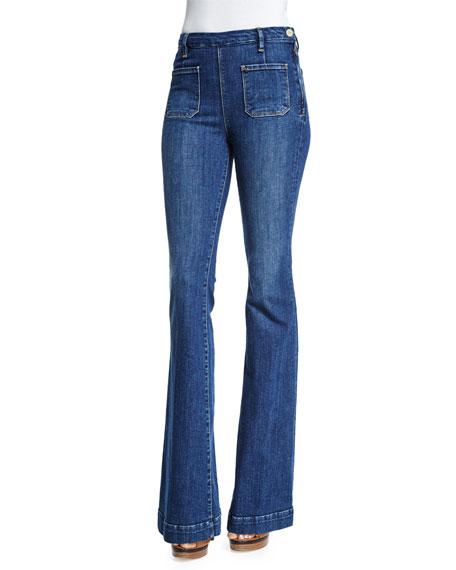 FRAME DENIM Le High Flare-Leg Jeans, Loma Vista