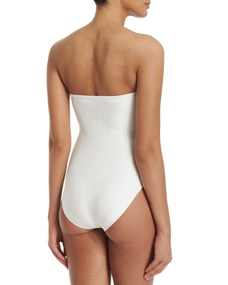 Rafia Bandeau One-Piece Swimsuit