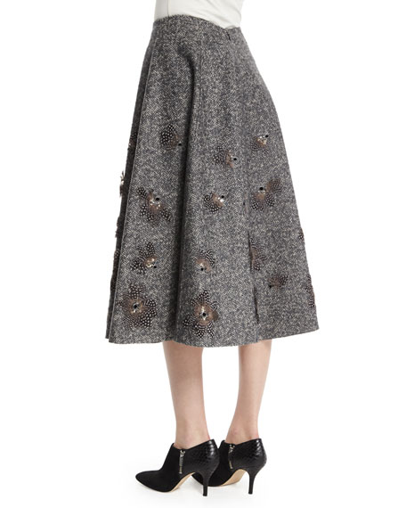 Embellished Dance Skirt, Charcoal