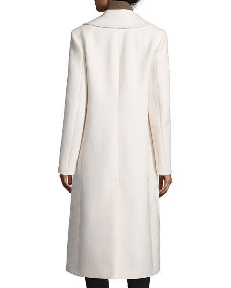 Double-Breasted Long Coat, Vanilla
