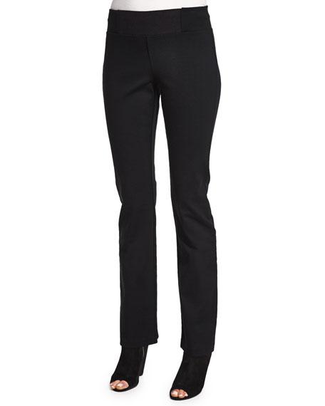 Eileen Fisher Slim Knit Boot-Cut Pants
