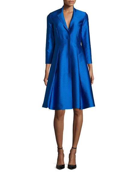 Sachin & Babi Noir 3/4-Sleeve Midi Coat Dress