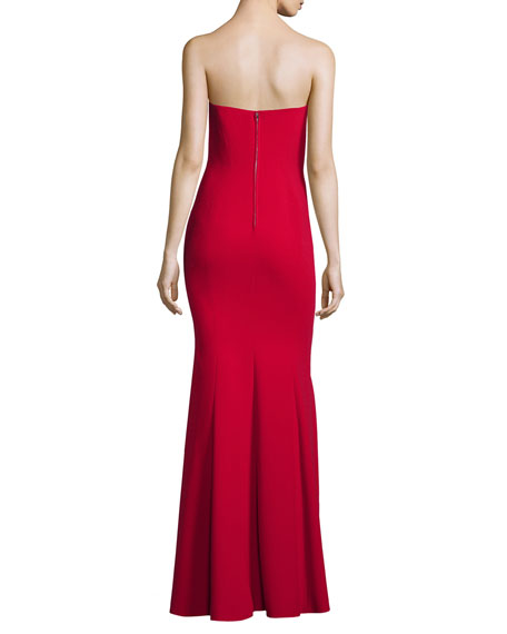 Strapless Gown with Godets