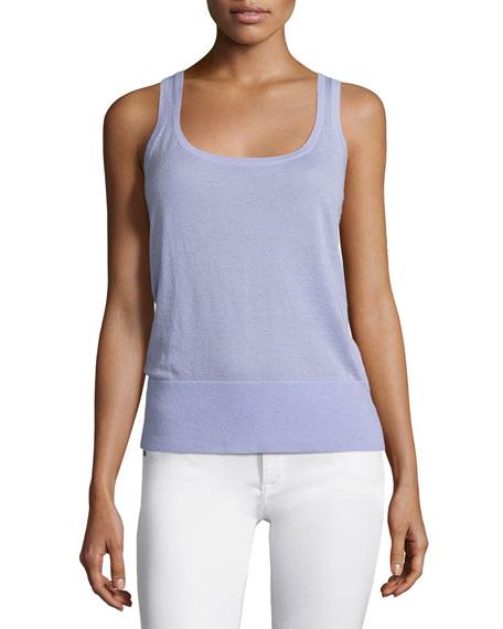 Michael Kors Collection Scoop-Neck Slim-Fit Cashmere Tank,