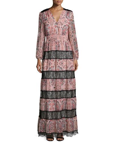 Daren Paisley Boho Maxi Dress, Multicolor