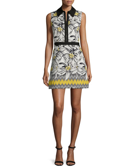Alice + Olivia Elli Collared Floral Shirtdress, Multicolor