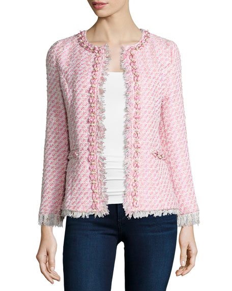 Michael Simon Tweed Beaded Jacket
