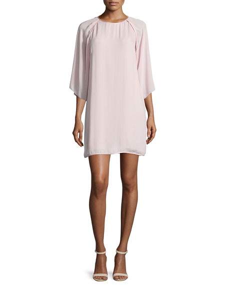 Halston Heritage Kimono-Sleeve Shift Dress, Sorbet