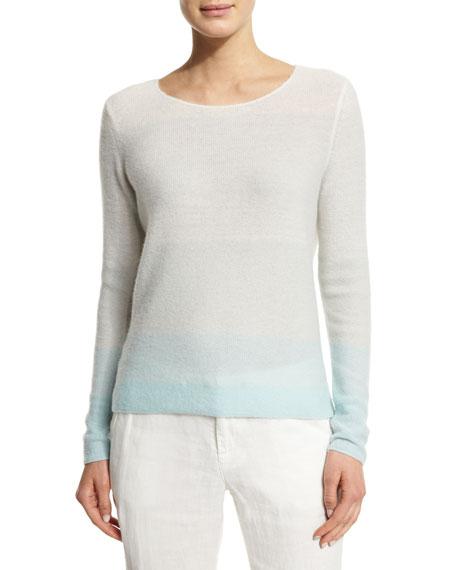 Joie Orfilia Ombre Cashmere Sweater, Fog Ombre