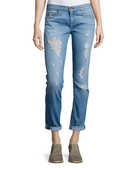 Dre Distressed Cuffed Jeans, Rosslyn
