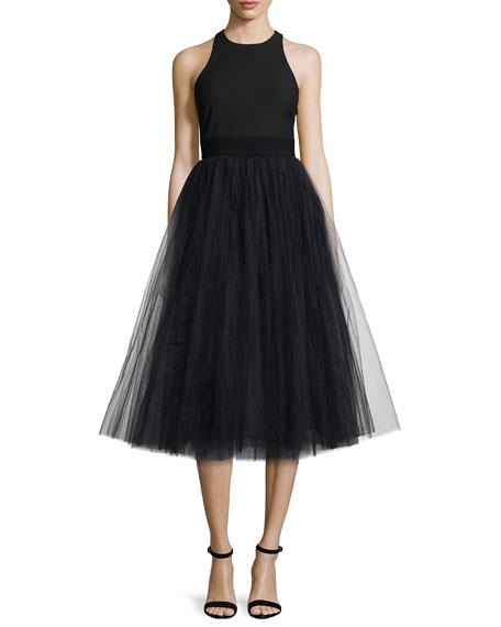 Elizabeth and James Aneko Fit-&-Flare Dress, Black