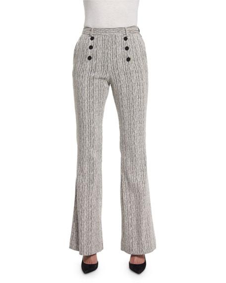 Carven Fantasy Tweed Zip-Front Jacket, Long-Sleeve Poplin