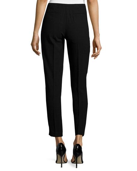 Marcia Slim Ankle Pants, Black