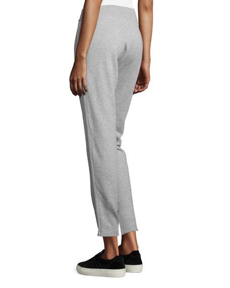 Cropped Jersey Drawstring Sweatpants