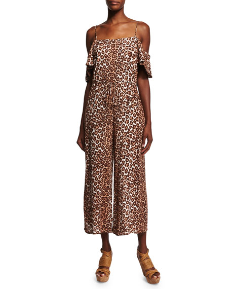 Alchemy Flounce Animal-Print Jumpsuit