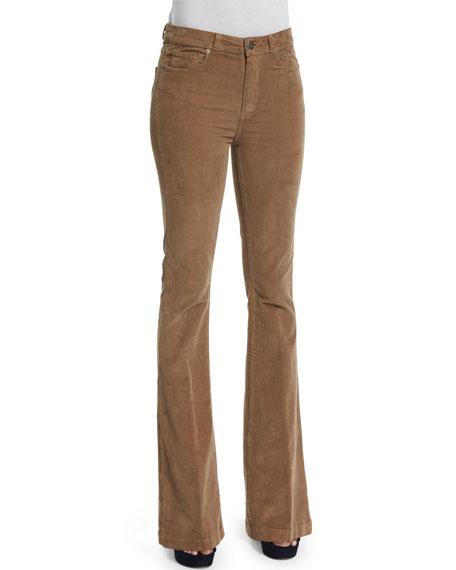Paige Denim Bell Canyon High-Waist Pants, Tan