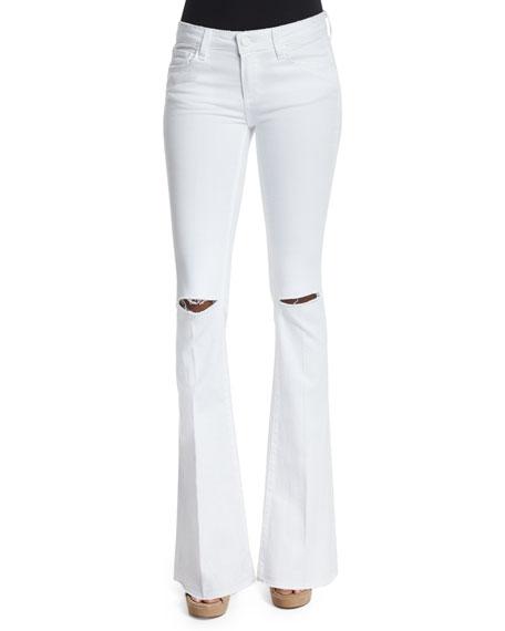 Paige Denim Lou Lou Flare-Leg Jeans, White
