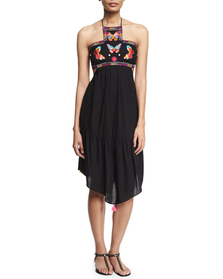 Ale by Alessandra Bahia Embroidered-Butterfly Dress