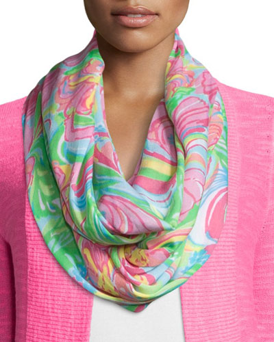 Riley Printed Infinity Scarf, Multi