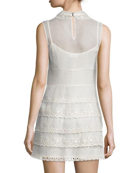 Sleeveless Scalloped Sheath Dress