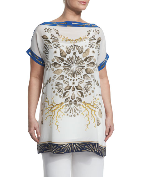 Veicolo Shells Graphic Long Tee, Plus Size