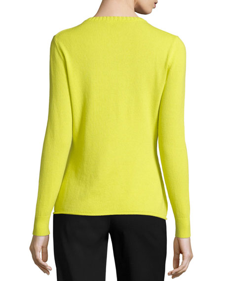 Long-Sleeve Cashmere Sweater, Solstice