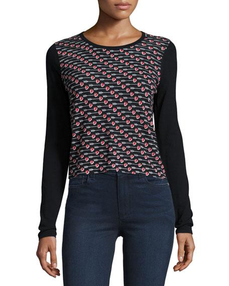 Diane von FurstenbergChess Arrow Heart Pullover Sweater