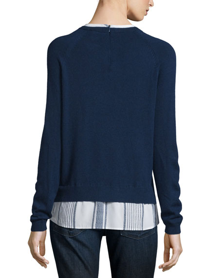 Joie zaan sweater shirt combo top for Sweater and dress shirt combo