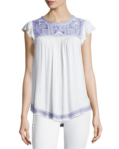 Joie Rankin Embroidered Top