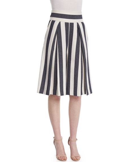 Milly Graphic Striped Cropped Culottes