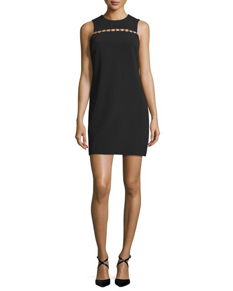 MICHAEL Michael Kors Bead-Detail Sleeveless Shift Dress