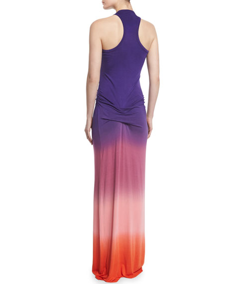 Hamptons Sleeveless Degrade Dress, Purple Ombre