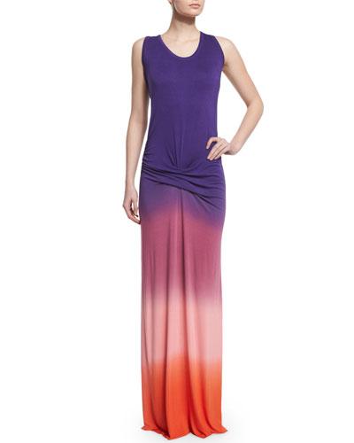Hamptons Sleeveless Degrade Dress, Purple Ombre