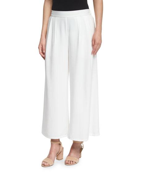 Eileen Fisher Draped-Front Organic Linen Cardigan, Slim Tank