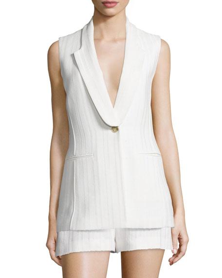 Lucia Long & Lean Vest, White