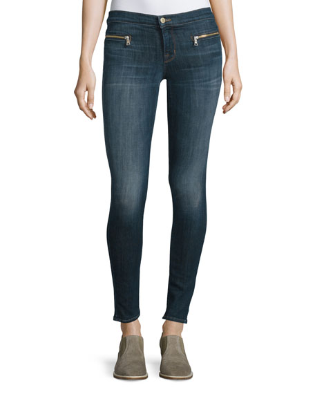 J Brand Jeans Emma Mid-Rise Super Skinny Jeans, Reserved