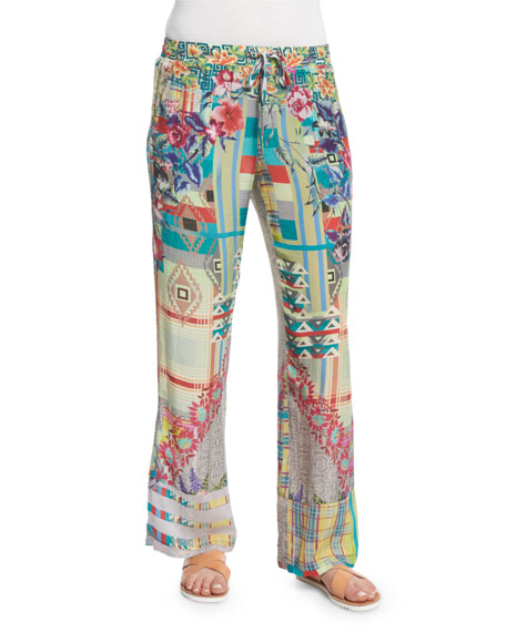 Johnny Was Collection Elleng Printed Drawstring Pants