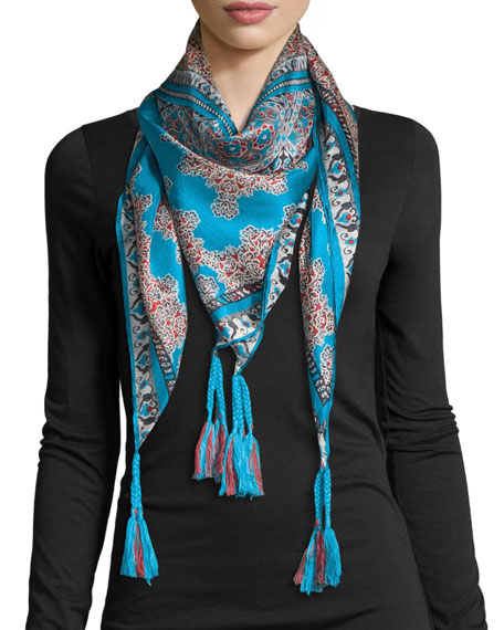 Johnny Was Collection Nikky Silk Printed Scarf