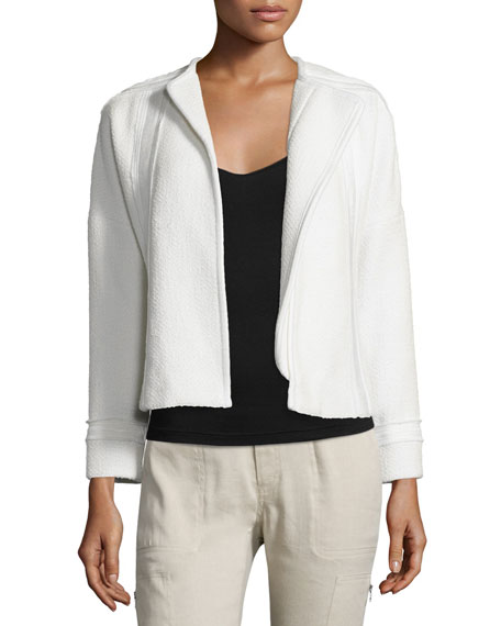 Vince Frayed-Trim Boucle Jacket